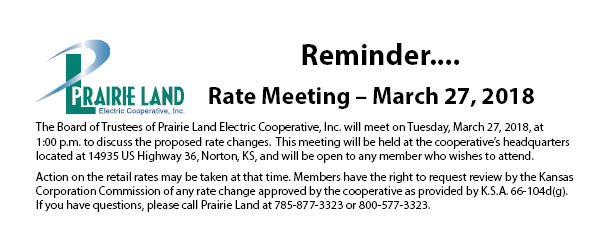 March Rate Meeting