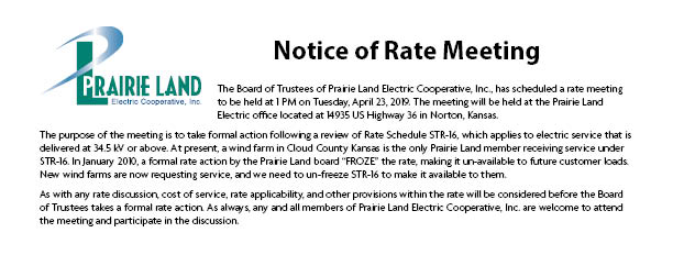 April Bill Insert About Rate Meeting